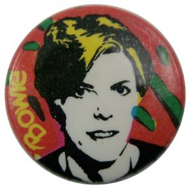 David Bowie - 'Drawing Red' Button Badge